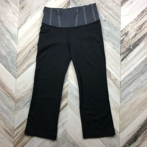 Lululemon Gather & Crow Crop Black Grey Size 4
